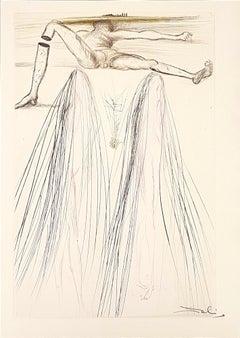 Le Géant Beliagog - Original Etching by S. Dalì - 1969