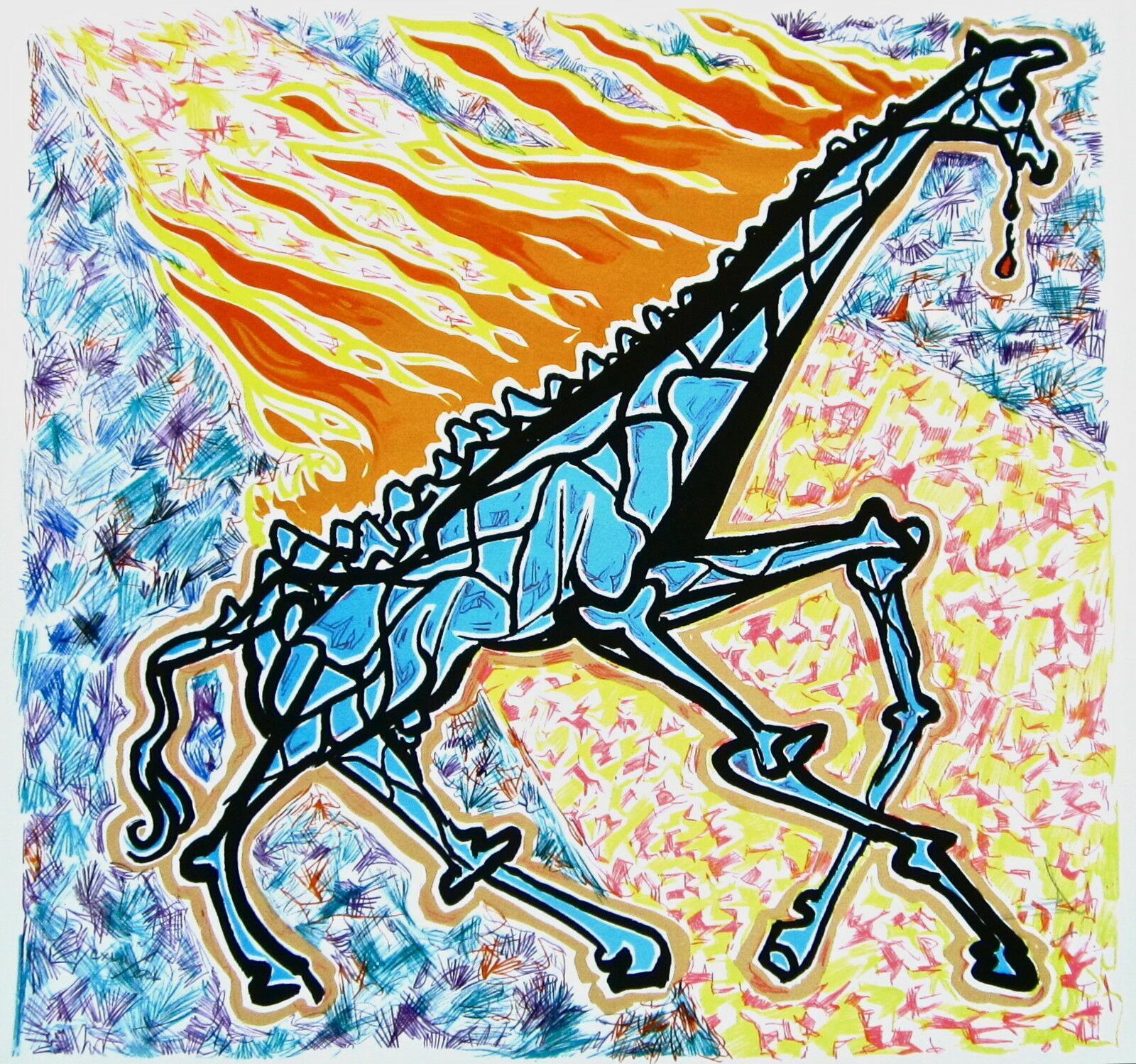 Le Girafe en Feu, Limited Edition Lithograph, Salvador Dali
