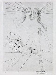 Les Amours de Cassandre Bicephale by Salvador Dali