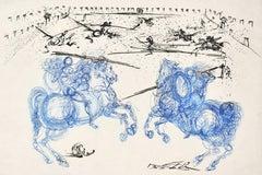 Les Cavaliers Bleus - Original Etching by S. Dali - 1973