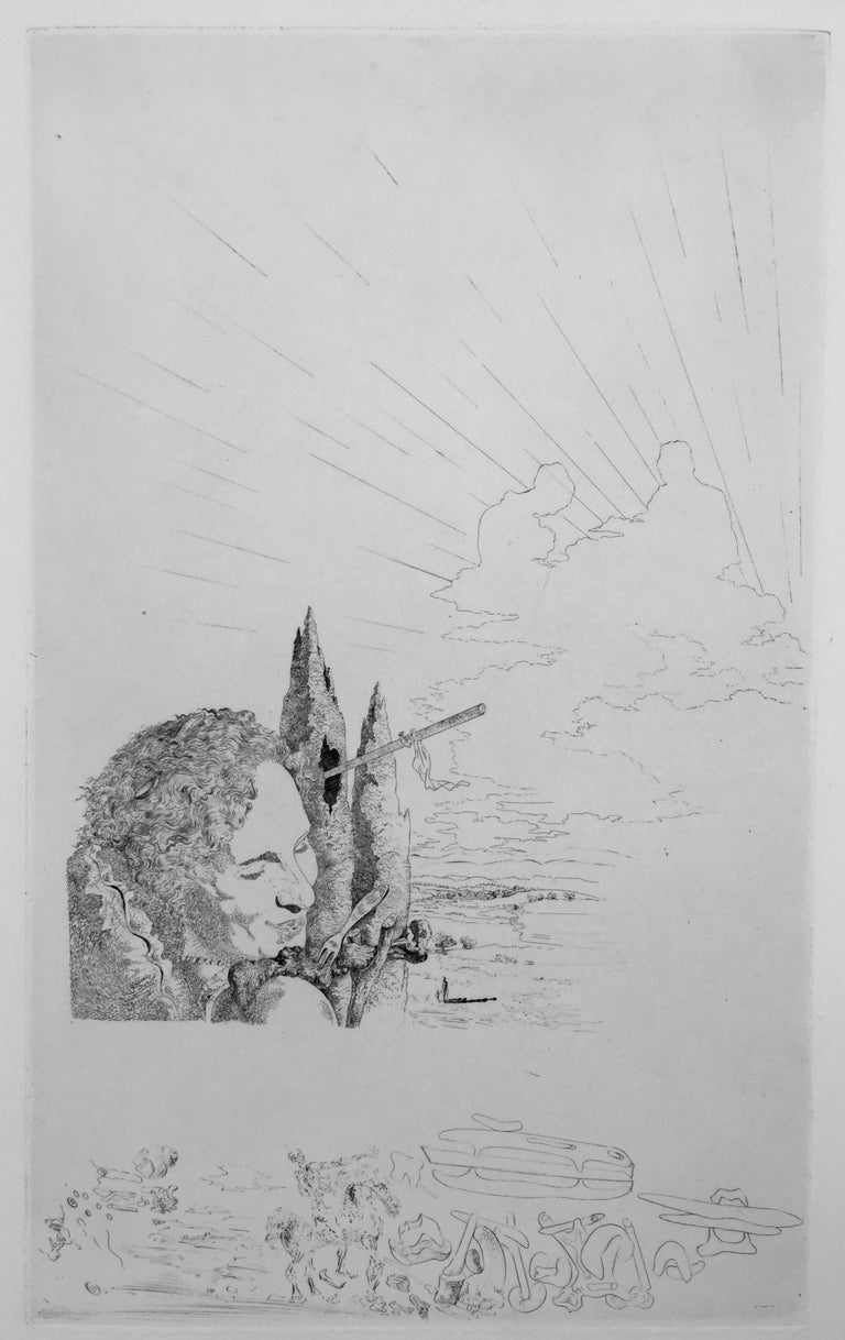 SALVADOR DALI (1904 - 1989)  LES CHANTS DE MALDOROR 1934. (Artist and the Book, Page 67: A Century of Artists Books 94: Michler Lopsinger 11-56: Field 34-2) An unsigned etching as issued from the very important Surrealist book by Comte de