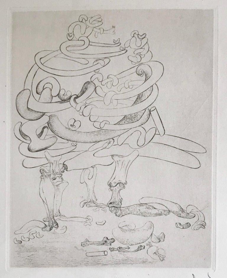 Les Chants de Maldoror, Original Signed Etching by Salvador Dali 1933 Museum  - Surrealist Print by Salvador Dalí