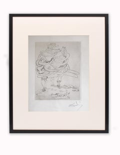 Les Chants de Maldoror, Original Signed Etching by Salvador Dali 1933 Museum