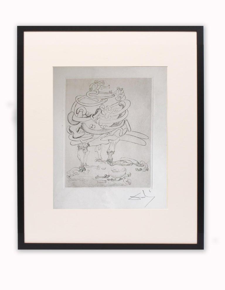 Salvador Dalí Figurative Print - Les Chants de Maldoror, Original Signed Etching by Salvador Dali 1933 Museum
