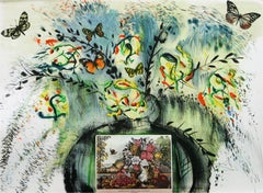 Les Fleurs et Fruits Salvador Dali Currier and Ives lithograph 1965 signed