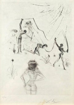 Les Negresses - Original Etching and Drypoint by S. Dali - 1969