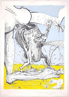 Les Songes Drôlatiques de Pantagruel - Original Litho by Salvador Dalì - 1973