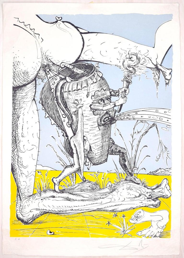 Salvador Dalí Print - Les Songes Drôlatiques de Pantagruel - Original Litho by Salvador Dalì - 1973