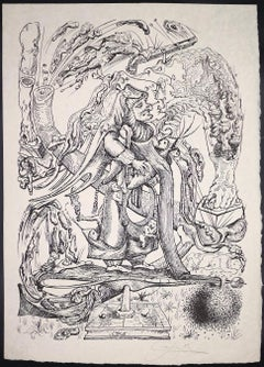 Les Songes Drôlatiques de Pantagruel - Original Lithograph by S. Dalì - 1973