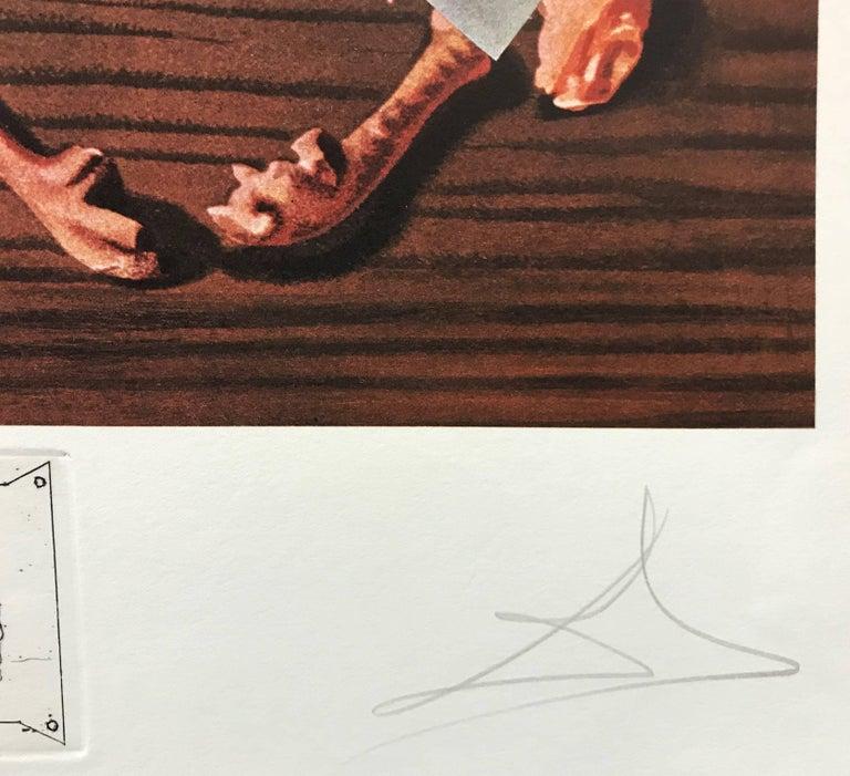 LES SPOUTNIKS ASTIQUES ELASTICOTS STATISTIQUES - Surrealist Print by Salvador Dalí