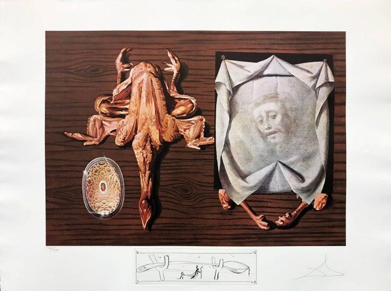 Salvador Dalí Portrait Print - LES SPOUTNIKS ASTIQUES ELASTICOTS STATISTIQUES