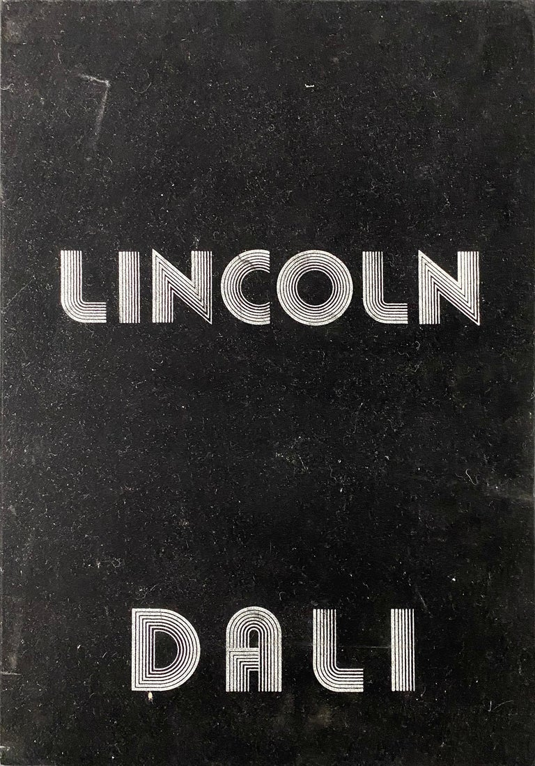Lincoln in Dalivision (Platinum H.C. Edition of 65) - Gold Abstract Print by Salvador Dalí
