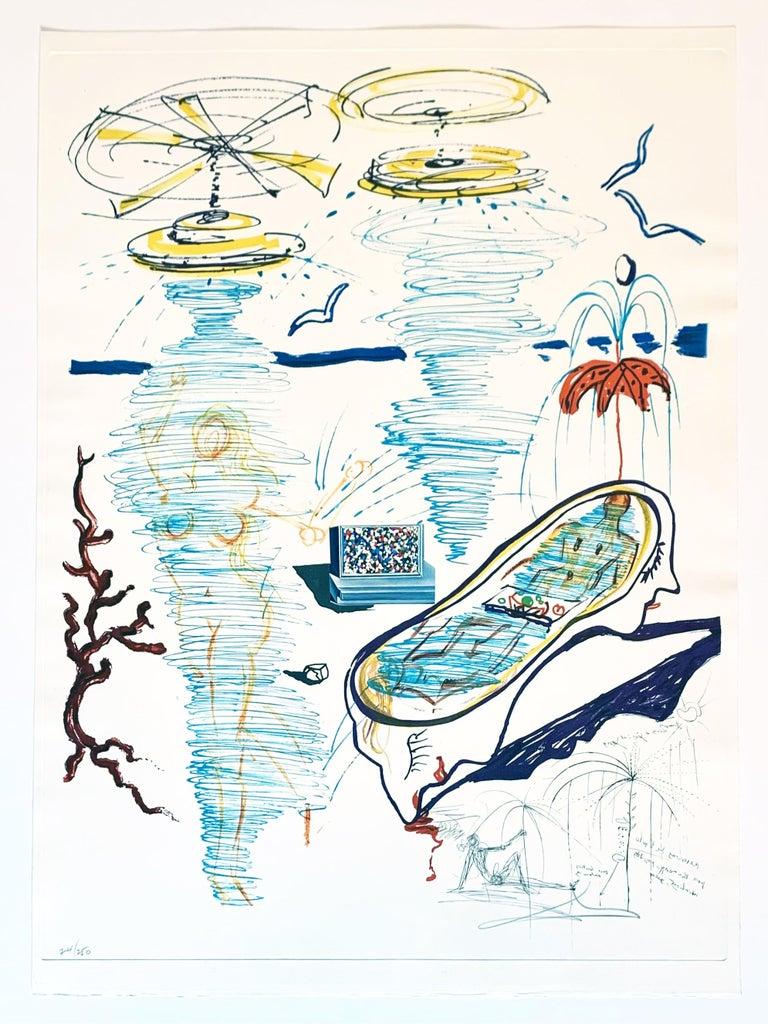 Liquid Tornado Bathtub - Print by Salvador Dalí