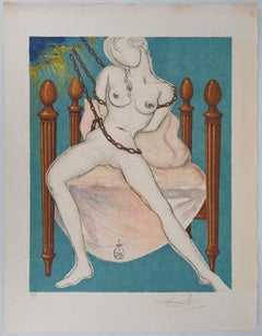 Marquis de Sade : Allegory, Cecile's Chastity - Handsigned lithograph