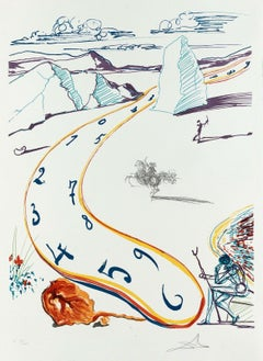 Melting Space-Time, Limited Edition Lithograph, Salvador Dali