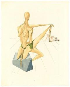 Minos - Print after Salvador Dalì drawing - 1963