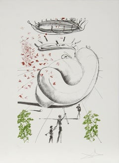 Moscas from the Colibri Suite, Lithograph by Salvador Dali