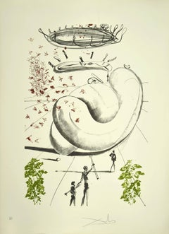 Moscas - Original Lithograph by Salvador Dalì - 1973