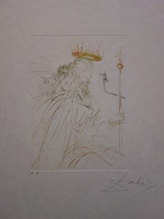 Much Ado About Shakespeare : King Lear - Original  Signed Etching