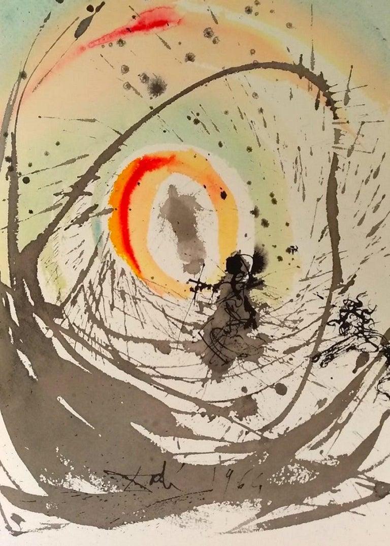 "Salvador Dalí Print - Mulier Amicta Sole From ""Biblia Sacra"" - Original Lithograph by S. Dalì - 1964"