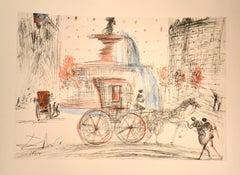 New York City: Plaza - Original Etching After S. Dali - 1981 (1964)