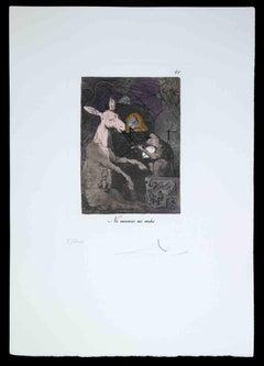 Ni Menos ni Más - Etching Attributed to Salvador Dalì - 1977