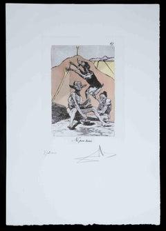 No por ésas - Original Etching attributed to Salvador Dalì - 1977