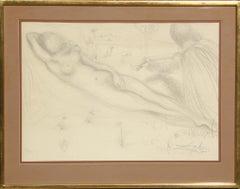 Nu a la Guitarre (Serenade), Lithograph by Salvador Dalí