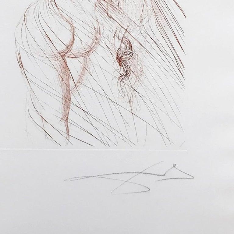 Nu Sanguine, Hand Signed Etching, 1968, Surrealism, Modern Art, 20th Century - Print by Salvador Dalí