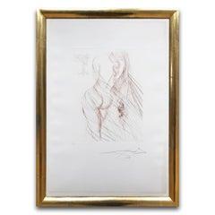 Nu Sanguine, Hand Signed Etching, 1968, Surrealism, Modern Art, 20th Century