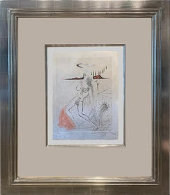 'Nude Female in Repose' by Salvador Dali, Original Etching