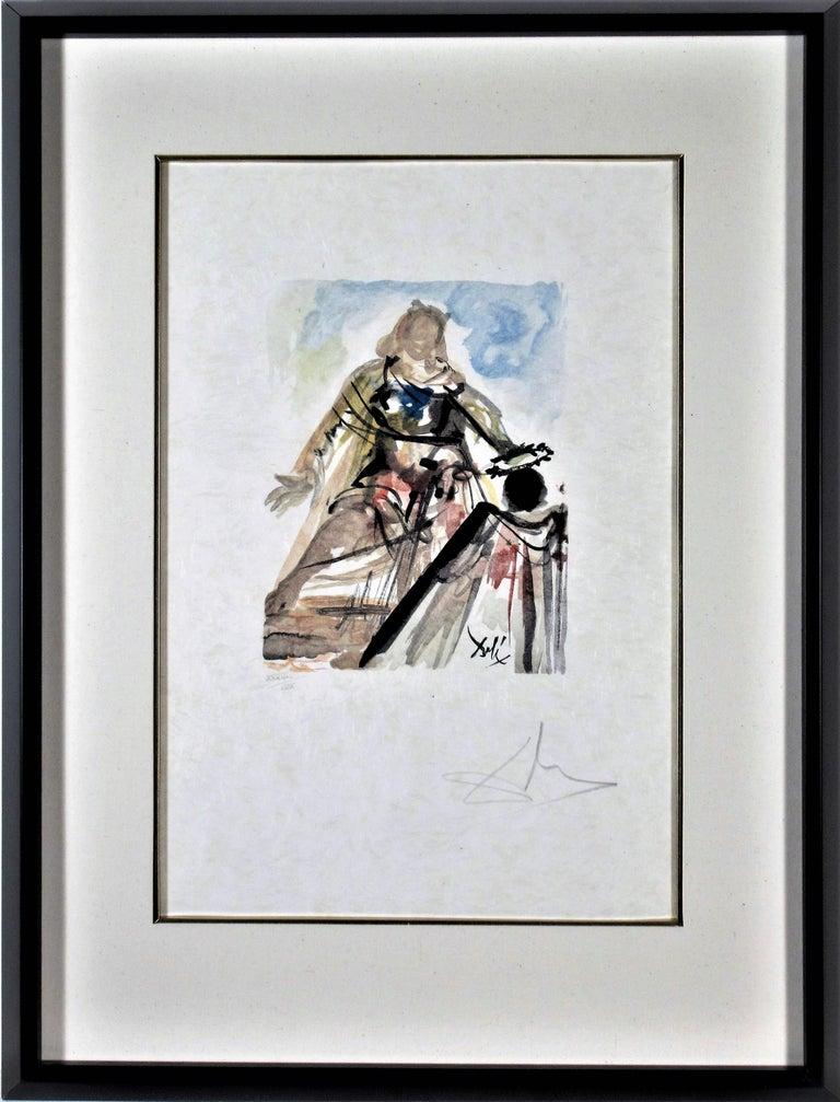 """Salvador Dalí Print - """"On Voit Cette Reine"""" from the suite """"lArt d'Aimer d'Ovide"""