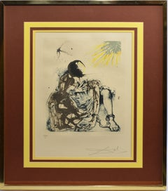 "Hand Signed and Numbered Surreal Aquatint ""Sigismund in Ketten"" Salvador Dali"