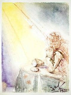 """Panem Nostrum - From """"Pater Noster"""" by Salvador Dalí - 1966"""