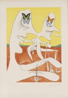 Papillons de l'Anti-Matière - Original Etching by Salvador Dalì - 1974