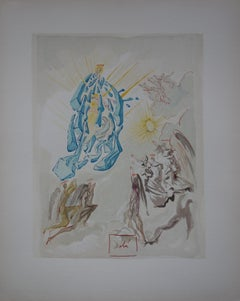 Paradise 26 - Dante Regains his Sight (Apparition of the Virgin) - Woodcut, 1963