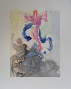 Paradise 3 - The The First Heaven - original woodcut - 1960