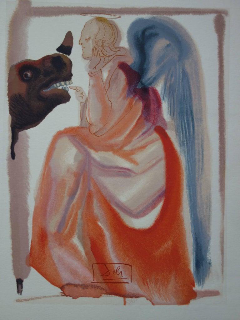 Paradise 6 - The Heaven of Mercury (Rhinoceros) - woodcut - 1963 - Print by Salvador Dalí