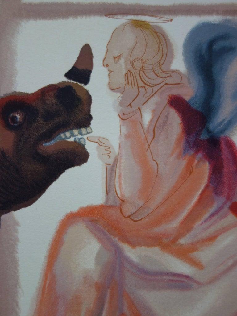 Paradise 6 - The Heaven of Mercury (Rhinoceros) - woodcut - 1963 - Modern Print by Salvador Dalí