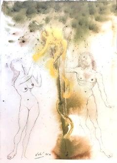 Peccatum originis -Original Lithograph by Salvador Dalì - 1964