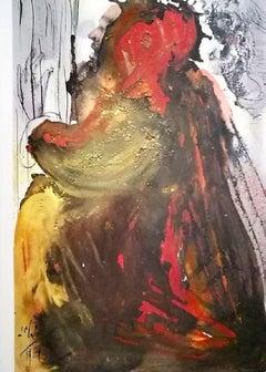 Planctus David in mortem Saul - Original Lithograph by Salvador Dalì - 1964