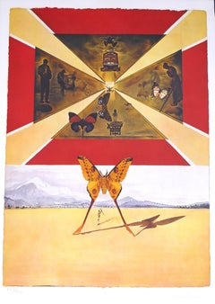 """Plate V - From """"Suite Papillon"""" - Original Lithograph and Heliogravure - 1969"""