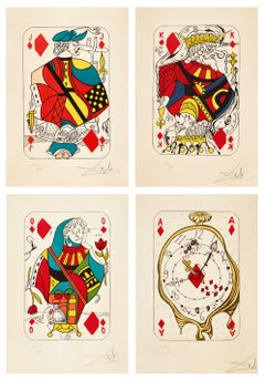 Playing Cards, Set of Four Lithographs by Salvador Dali