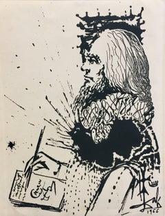 Portrait de Calderon engraving painting