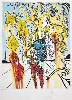 Portrait of Autumn (The Joys of Bacchus) - by Salvador Dalì - 1979
