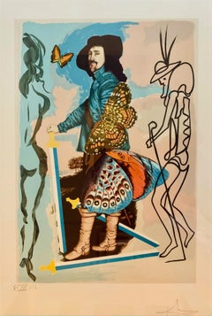 Portrait of Charles I, Original Surrealist Lithograph