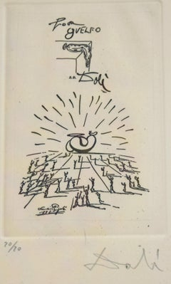 Pour Guelfo - Original Etching by S. Dali - 1970s