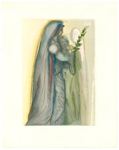 Preparation for the Final Prayer - Original Woodcut by Salvador Dalì - 1963