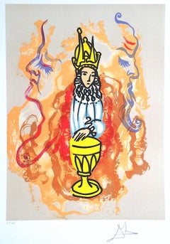 PRINCE OF CUPS 1979, Signed Lithograph on Arches, Tarot Card Series