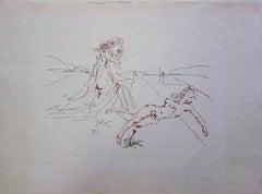 Épris d'une folle passion - Original etching - 1979 - 50 exem